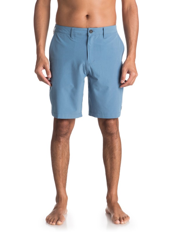 "0 Waterman Vagabond 20"" Amphibian Shorts Blue EQMWS03050 Quiksilver"