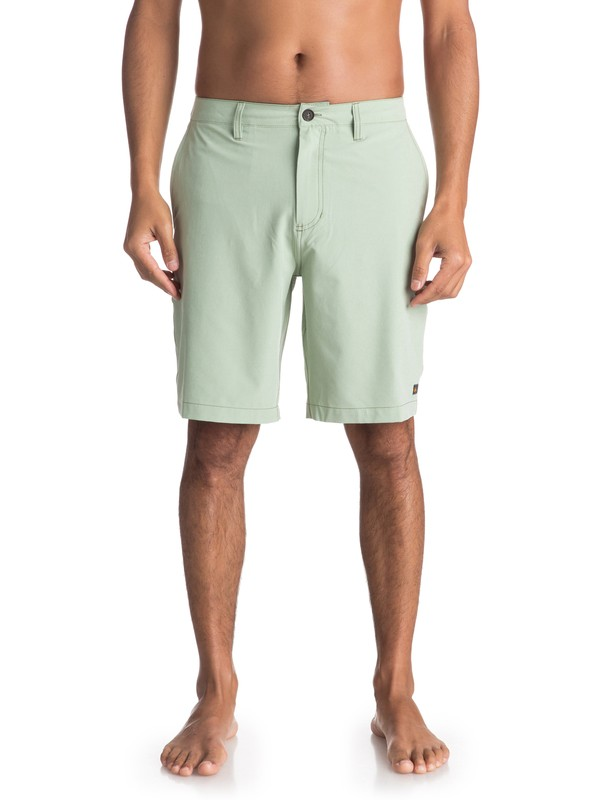 "0 Waterman Vagabond 20"" Amphibian Shorts Green EQMWS03050 Quiksilver"