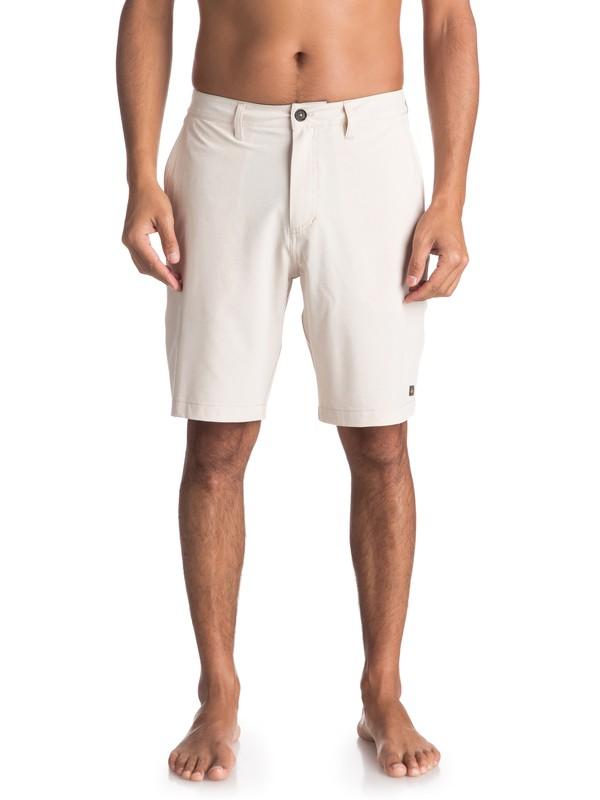 "0 Waterman Vagabond 20"" Amphibian Shorts Grey EQMWS03050 Quiksilver"