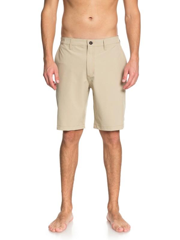 "0 Waterman Vagabond 20"" Amphibian Shorts Beige EQMWS03050 Quiksilver"