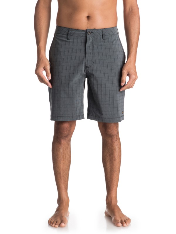 0 Waterman Vagabond Plaid - Amphibian Board Shorts for Men Black EQMWS03051 Quiksilver