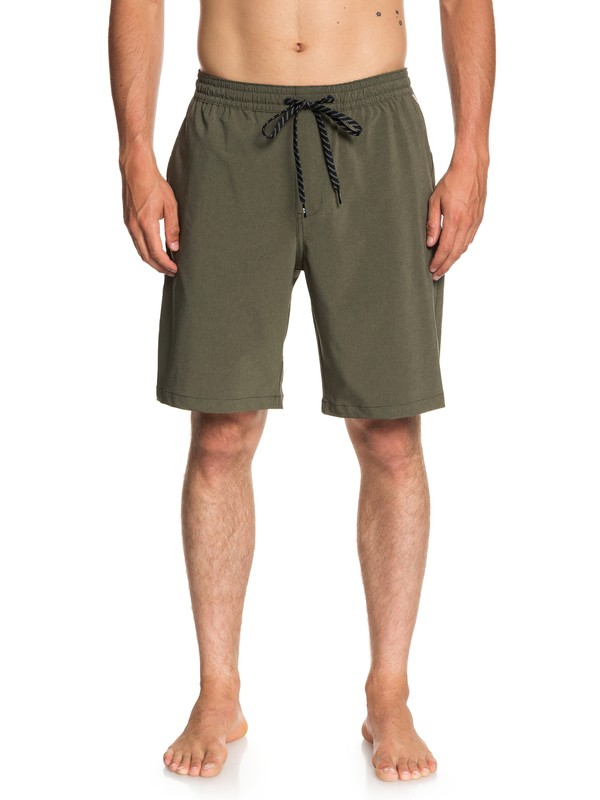 "0 Waterman Suva 19"" Amphibian Shorts Brown EQMWS03071 Quiksilver"