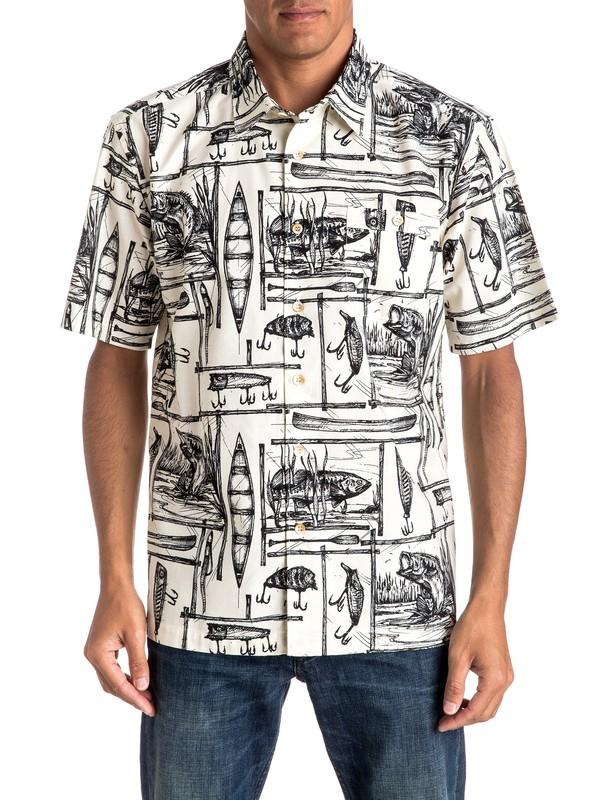 0 Waterman Angler Short Sleeve Shirt  EQMWT03016 Quiksilver