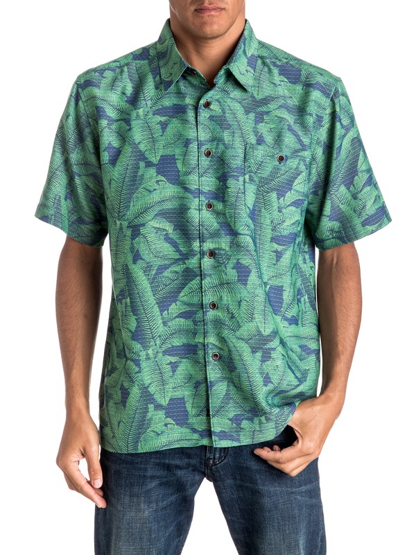 0 Waterman Banana S Short Sleeve Shirt  EQMWT03019 Quiksilver