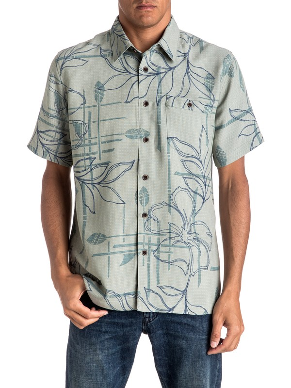 0 Waterman Paddle Out Short Sleeve Shirt  EQMWT03021 Quiksilver