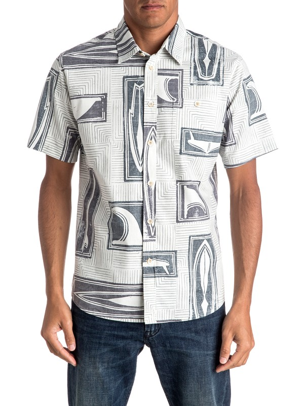 0 Waterman Shapers Choice Short Sleeve Shirt  EQMWT03023 Quiksilver