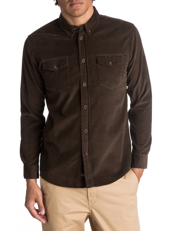 0 Waterman Bells Point Corduroy Long Sleeve Shirt  EQMWT03032 Quiksilver