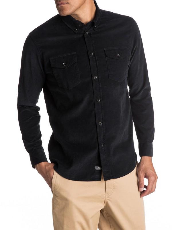 0 Waterman Bells Point Corduroy Long Sleeve Shirt Black EQMWT03032 Quiksilver