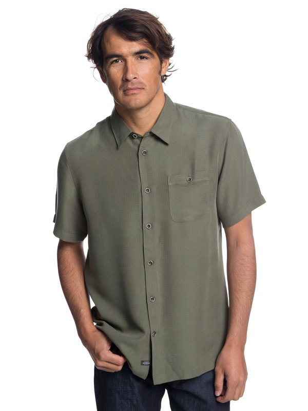 0 Waterman Avalon Short Sleeve Shirt Brown EQMWT03051 Quiksilver