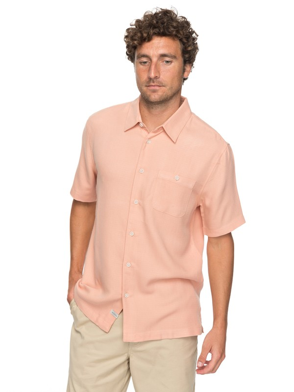 0 Waterman Avalon Short Sleeve Shirt Orange EQMWT03051 Quiksilver