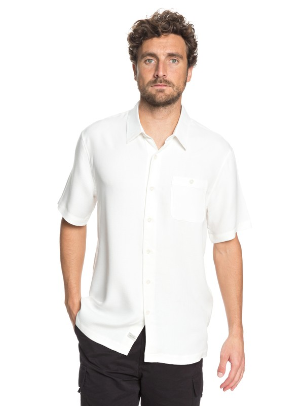 0 Waterman Avalon Short Sleeve Shirt White EQMWT03051 Quiksilver