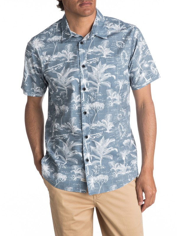 0 Waterman Palmitoto Short Sleeve Shirt  EQMWT03054 Quiksilver