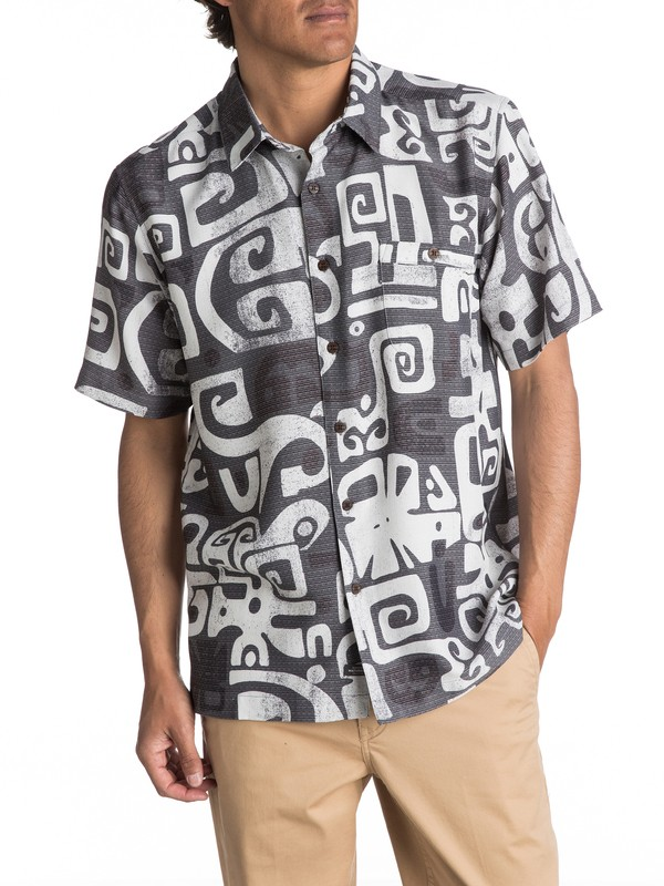 0 Waterman Olowalu Short Sleeve Shirt  EQMWT03056 Quiksilver