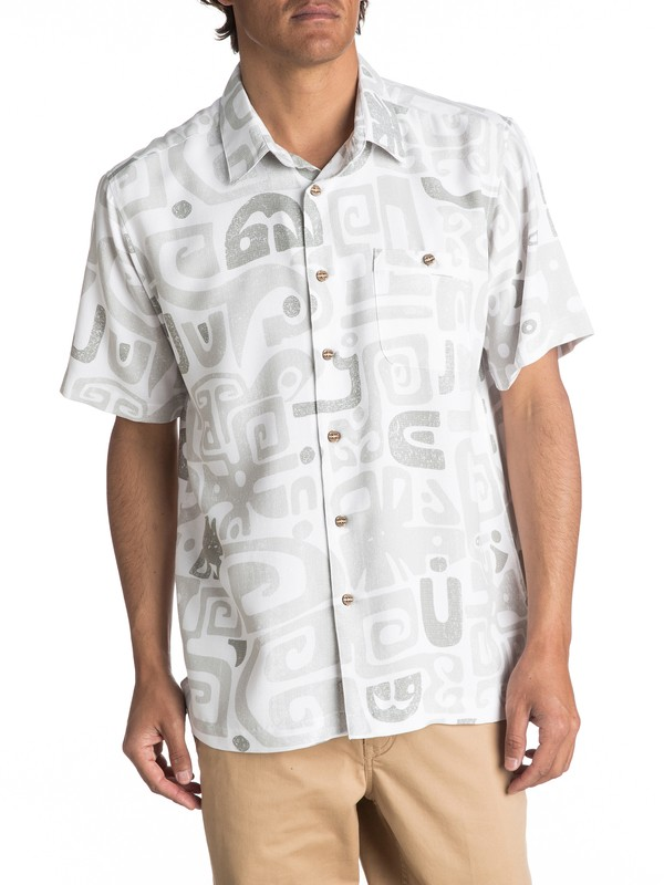 0 Waterman Olowalu Short Sleeve Shirt  EQMWT03056 Quiksilver