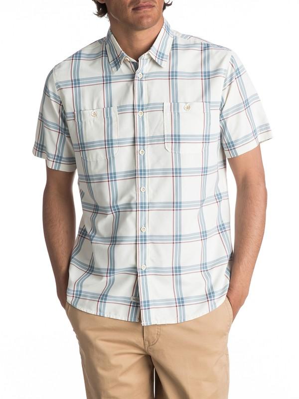 0 Waterman Island Job Update Short Sleeve Shirt White EQMWT03067 Quiksilver