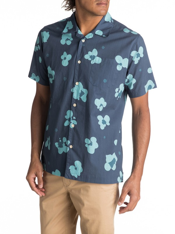0 Waterfloral Short Sleeve Camp Shirt  EQMWT03093 Quiksilver