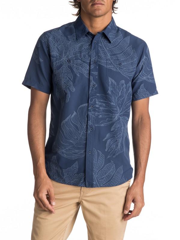 0 Wake XOA Technical Short Sleeve Shirt Blue EQMWT03096 Quiksilver