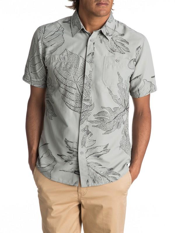 0 Waterman Wake XOA Technical Short Sleeve Shirt Grey EQMWT03096 Quiksilver