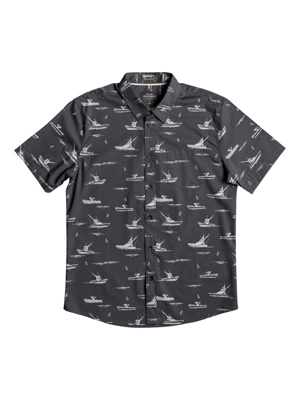 0 Waterman Fishboats Short Sleeve Shirt  EQMWT03106 Quiksilver