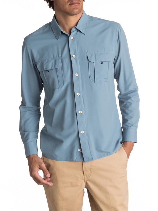 0 Waterman Trailblazing Long Sleeve Shirt Blue EQMWT03107 Quiksilver