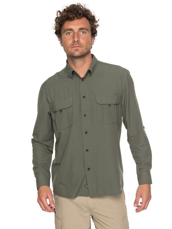 0 Waterman Trailblazing - Chemise à manches longues pour Homme Vert EQMWT03107 Quiksilver