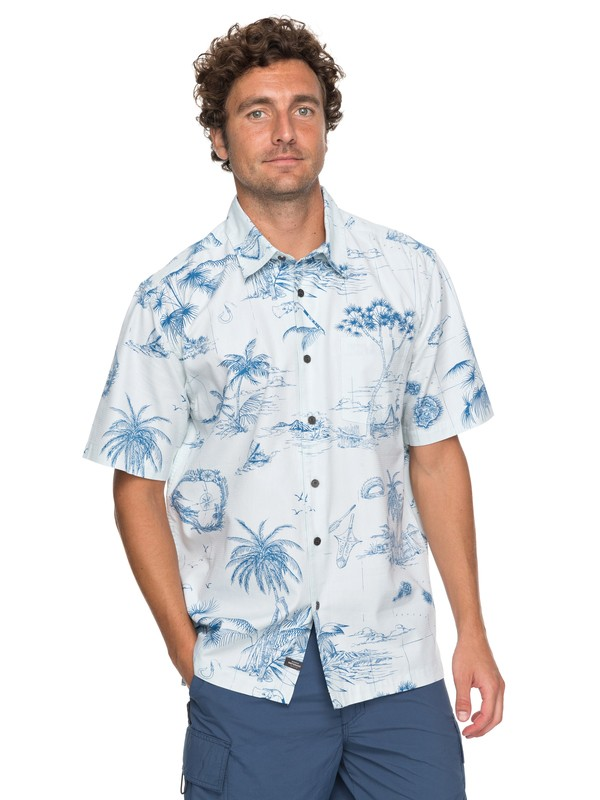 0 Waterman Koolin Map Short Sleeve Shirt  EQMWT03110 Quiksilver