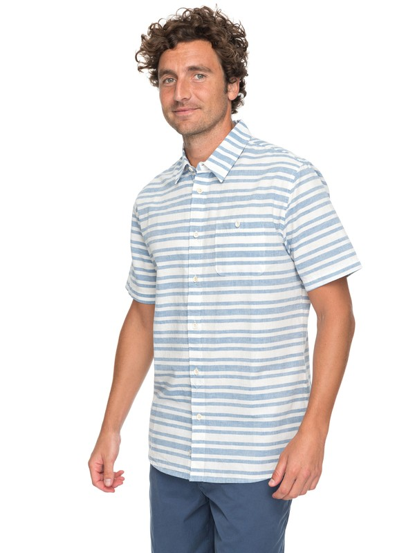 0 Waterman Flying First Short Sleeve Shirt Blue EQMWT03115 Quiksilver