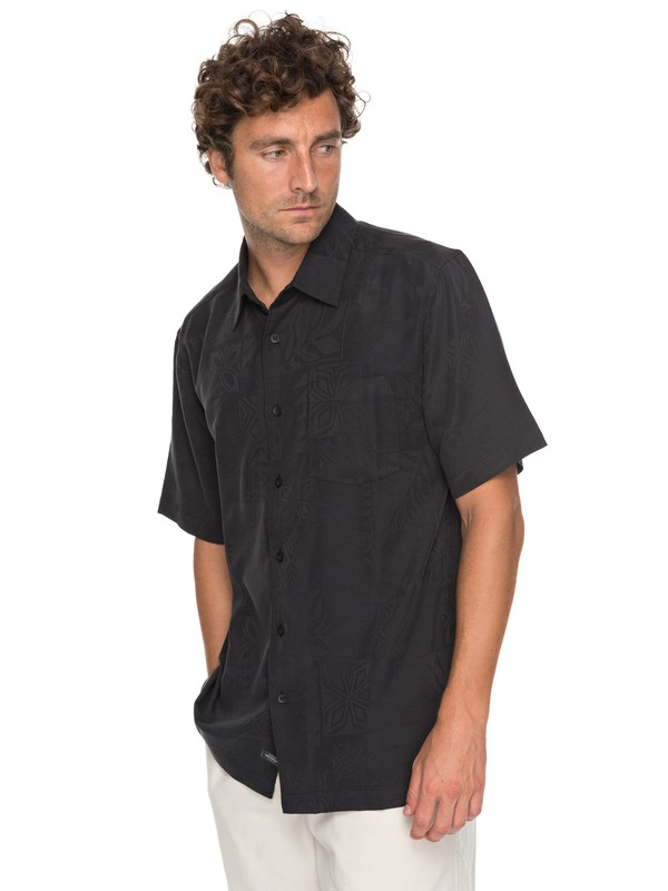 0 Waterman Malama Bay Short Sleeve Shirt Black EQMWT03116 Quiksilver