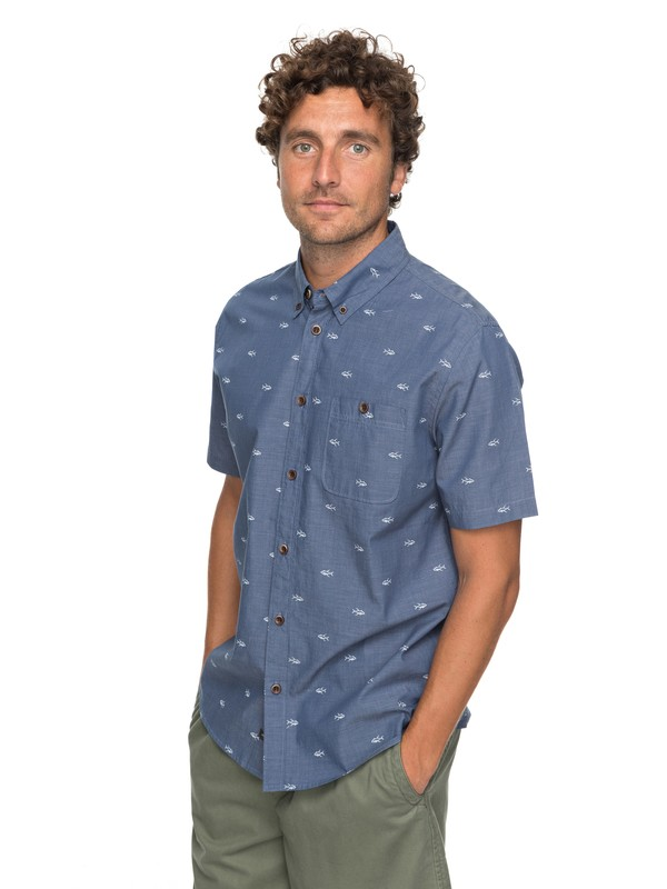 0 Waterman Poste Fishery Short Sleeve Shirt  EQMWT03117 Quiksilver