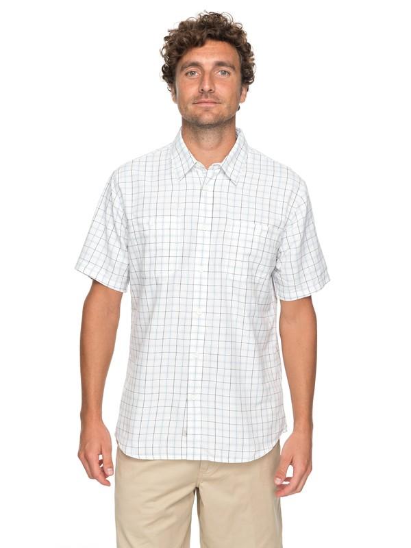 0 Waterman Wake Plaid 2 Technical Short Sleeve Shirt White EQMWT03123 Quiksilver