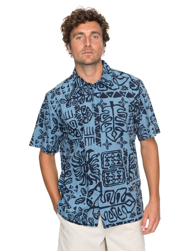 0 Waterman Kohala Coast Short Sleeve Shirt  EQMWT03132 Quiksilver