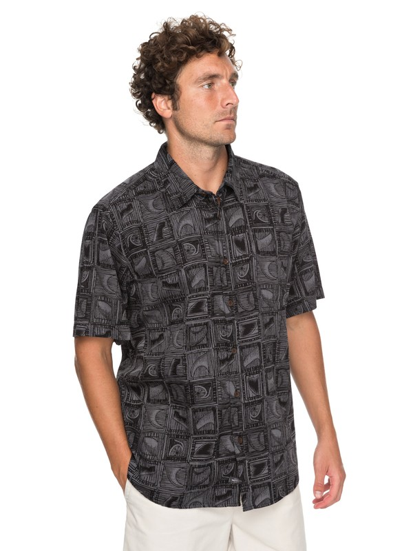 0 Waterman Skegmaster Short Sleeve Shirt Black EQMWT03135 Quiksilver