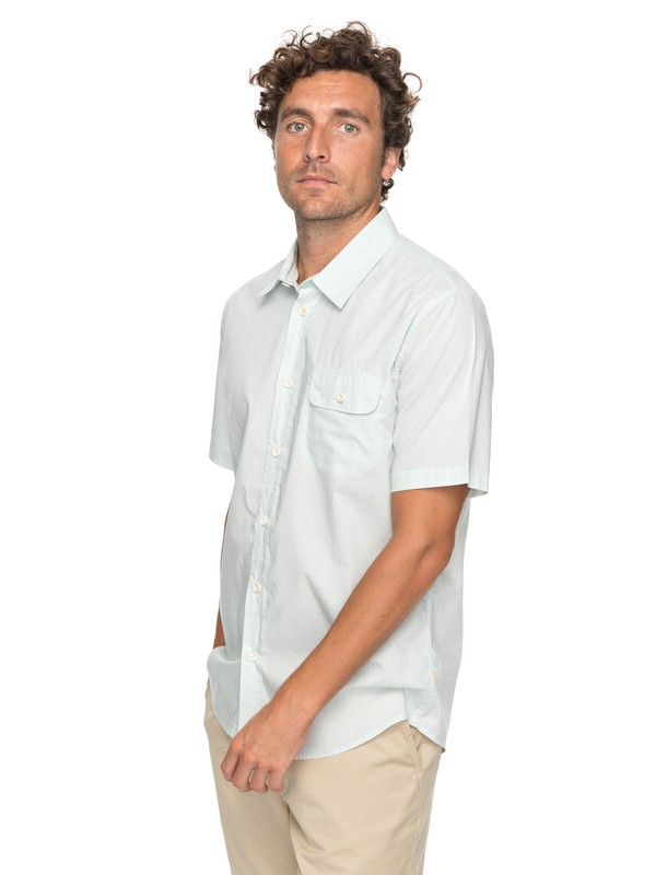 0 Waterman Big Board - Short Sleeve Shirt Blue EQMWT03137 Quiksilver