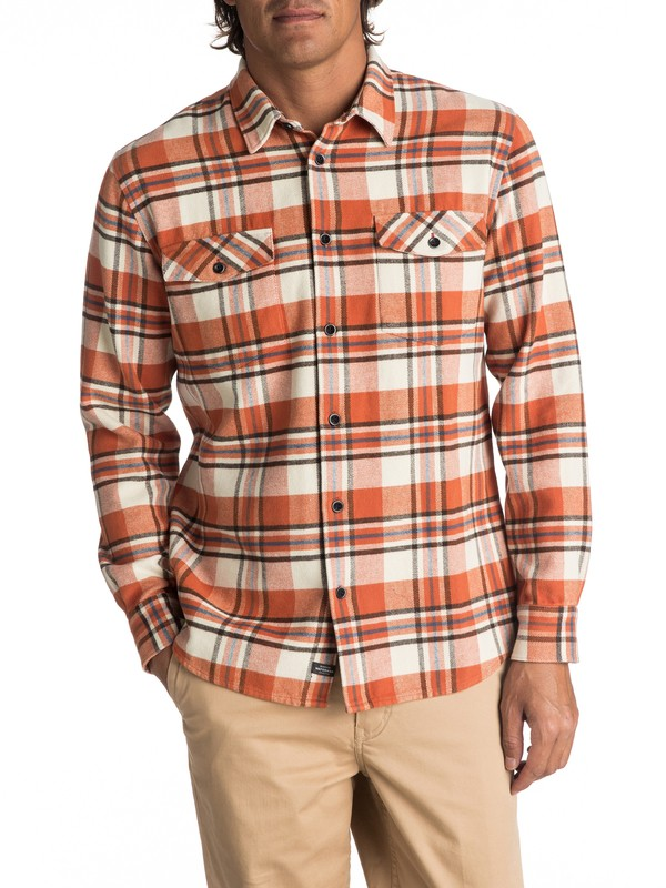 0 Waterman Cedar Island Long Sleeve Shirt Brown EQMWT03144 Quiksilver