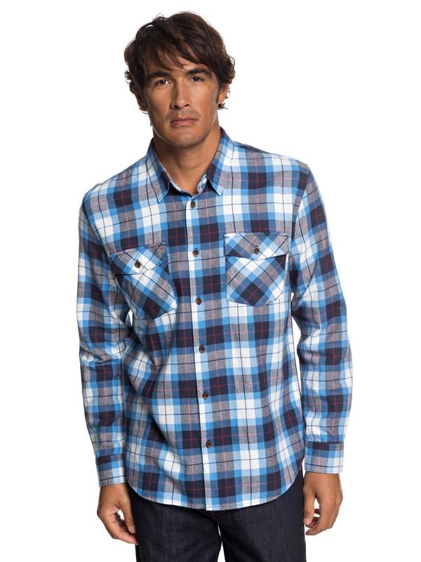 0 Waterman Wade Creek Long Sleeve Shirt Blue EQMWT03145 Quiksilver