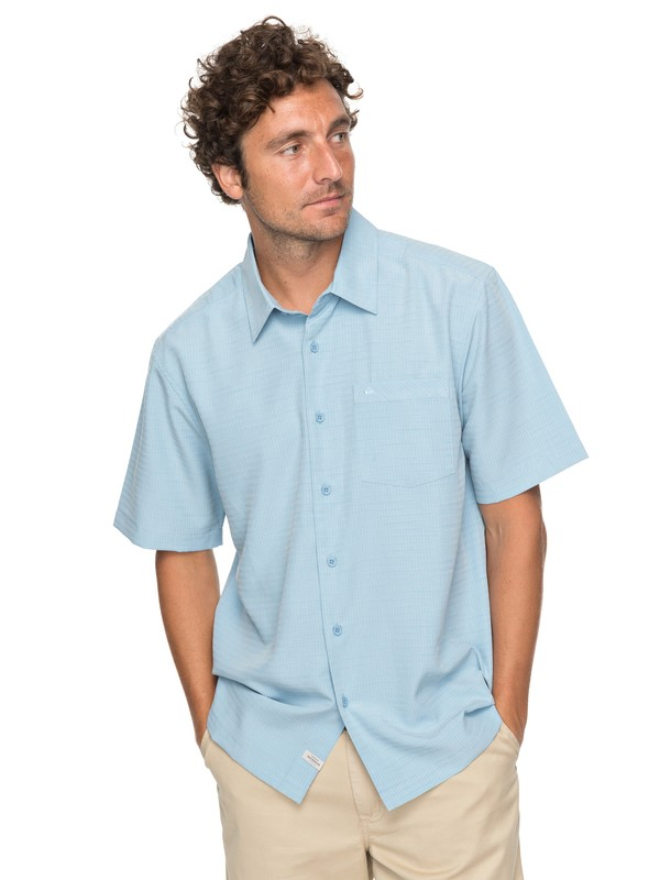 0 Waterman Centinela Short Sleeve Shirt Blue EQMWT03150 Quiksilver