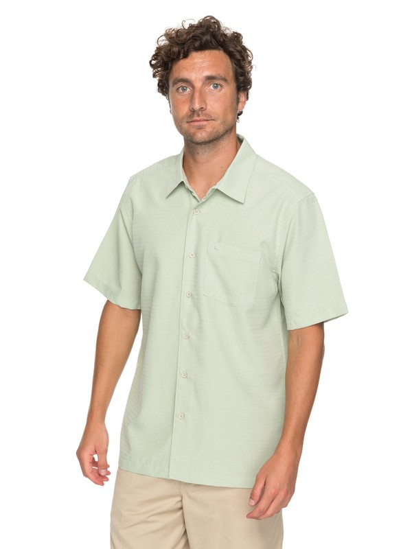 0 Waterman Centinela Short Sleeve Shirt Green EQMWT03150 Quiksilver