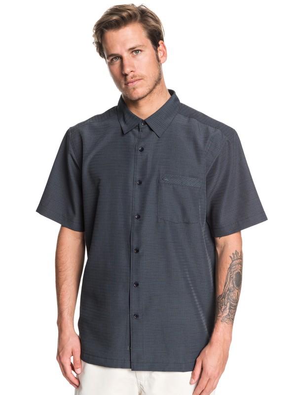 0 Waterman Centinela Short Sleeve Shirt Black EQMWT03150 Quiksilver