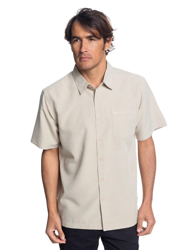 0 Waterman Centinela Short Sleeve Shirt Beige EQMWT03150 Quiksilver