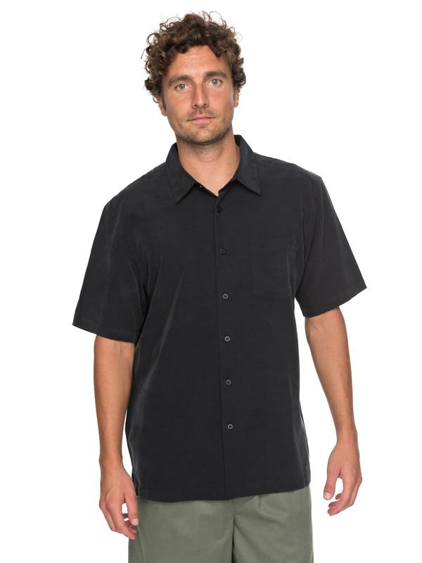 0 Waterman Clear Days Short Sleeve Shirt Negro EQMWT03151 Quiksilver