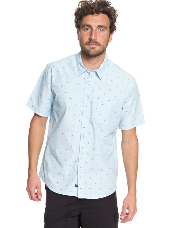 0 Waterman Trailblazed Tribal Right - Technical Short Sleeve Shirt Blue EQMWT03162 Quiksilver