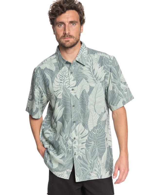 0 Waterman Jungle Thinking - Short Sleeve Shirt Green EQMWT03165 Quiksilver