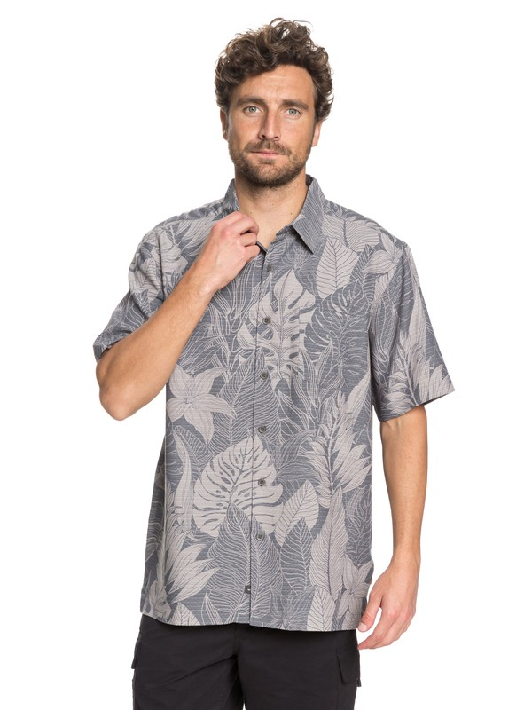 0 Waterman Jungle Thinking Short Sleeve Shirt Black EQMWT03165 Quiksilver