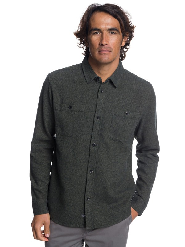0 Waterman Irish Rocks Flannel Long Sleeve Shirt Brown EQMWT03177 Quiksilver