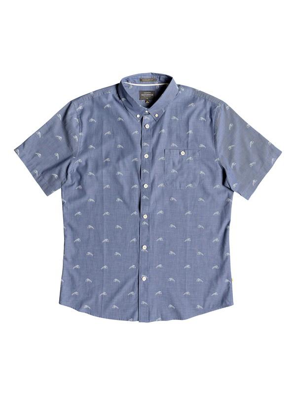 0 Waterman Mahi Hami Short Sleeve Shirt Blue EQMWT03181 Quiksilver