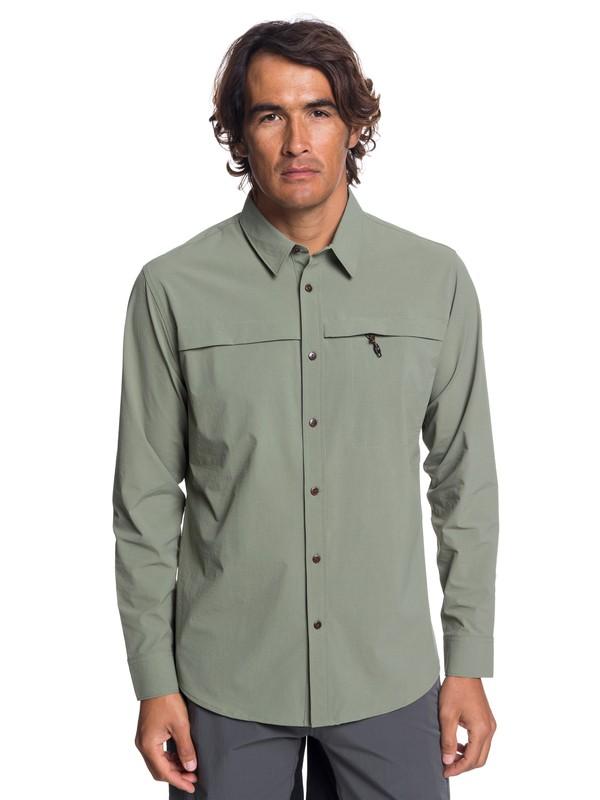 0 Waterman Salt Water Explorer - T-Shirt technique à manches longues UPF 30 pour Homme Beige EQMWT03189 Quiksilver