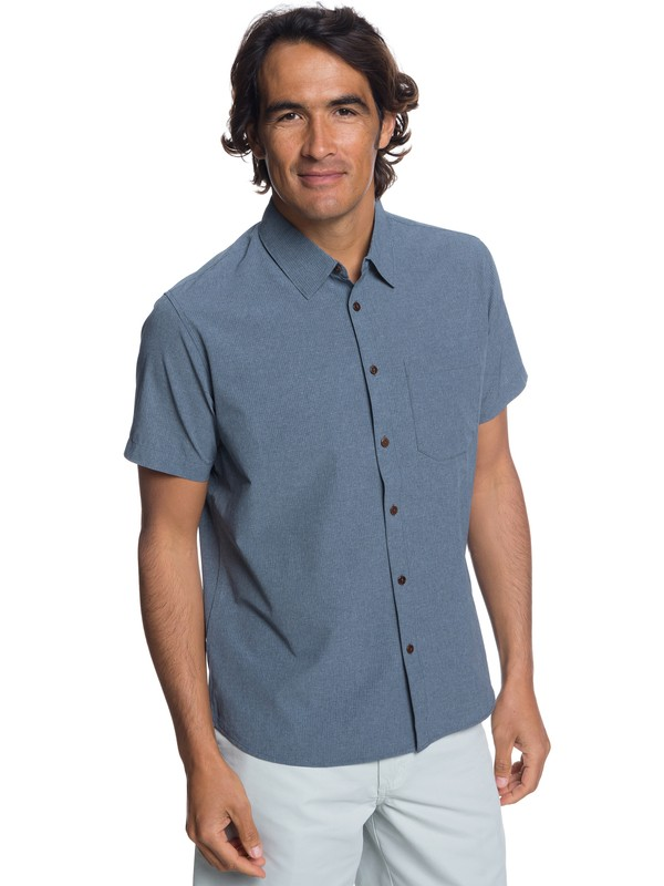 0 Waterman Tech Technical Short Sleeve Shirt Blue EQMWT03190 Quiksilver