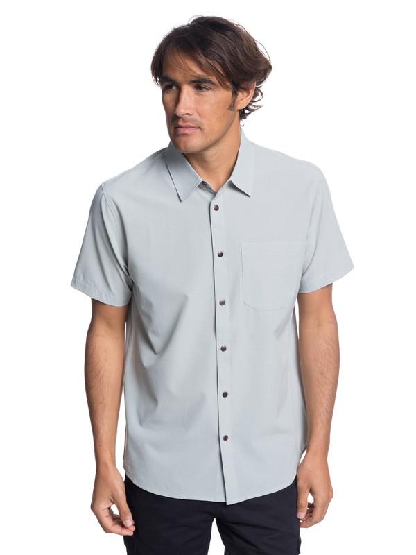 0 Waterman Tech Technical Short Sleeve Shirt Grey EQMWT03190 Quiksilver