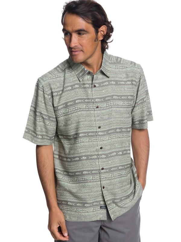 0 Waterman Tapua Sunrise Technical Short Sleeve Shirt Brown EQMWT03194 Quiksilver