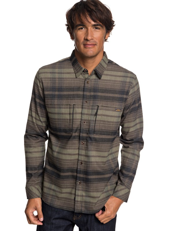 0 Waterman Thermo Hyper Flannel Long Sleeve Technical Shirt Black EQMWT03212 Quiksilver